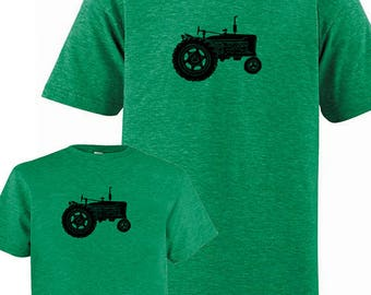 Father Son Matching Dad Matching Father Son Daughter Shirts, Matching Tractor Farm T shirts new dad shirt gift for dad Fathers Day present