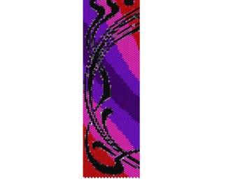 BPSW0005 Swirl 5 Even Count Single Drop Peyote Cuff/Bracelet Pattern