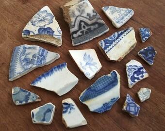 Thames sea pottery - set of 16
