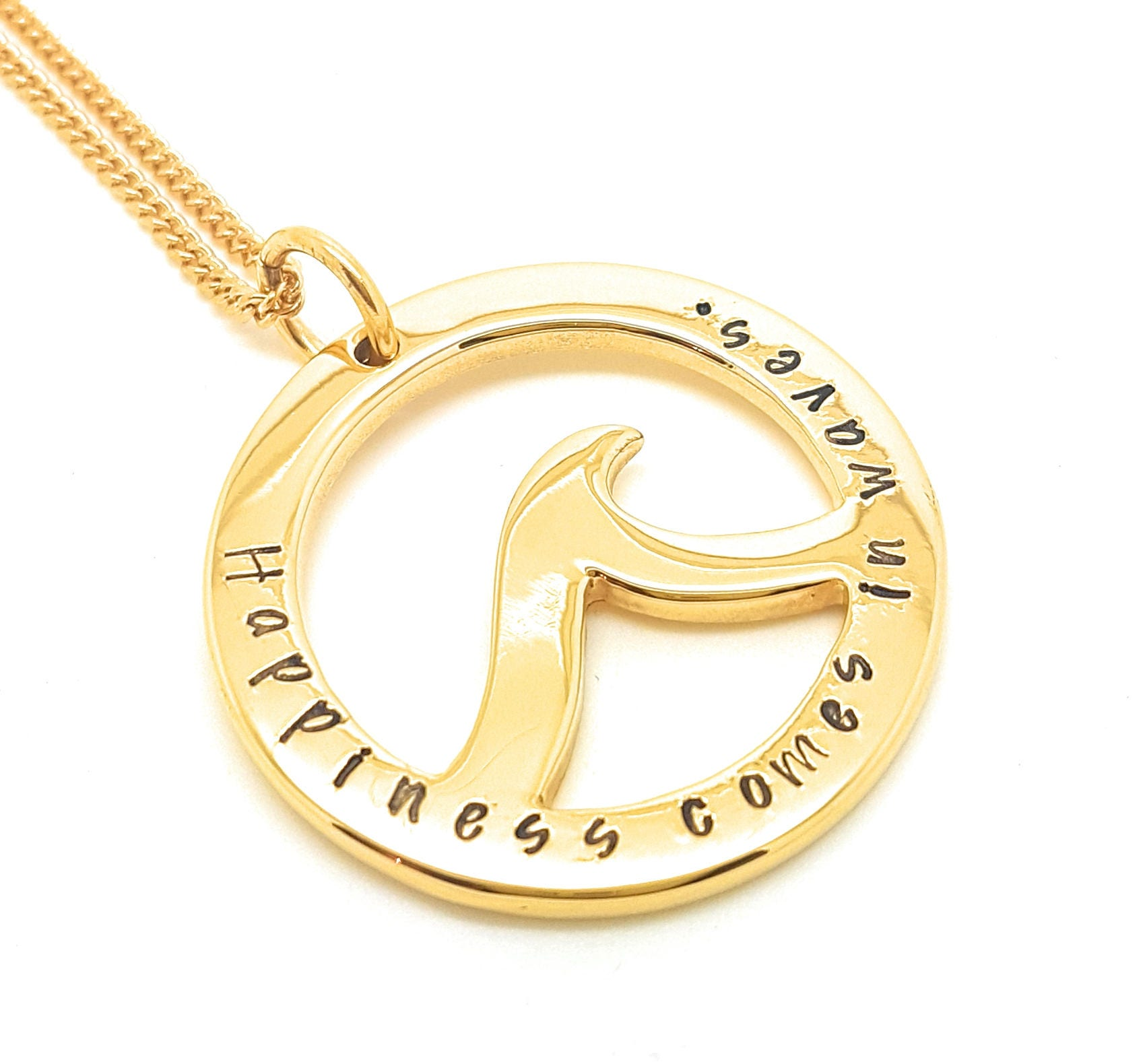 ocean family gold wave listing pendant fullxfull personalised hand jewellery surfer il stamped necklace