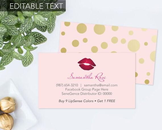 printable lipsense business card senegence business card. Black Bedroom Furniture Sets. Home Design Ideas