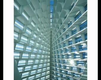 Milwaukee Art Museum Ceiling Fine Art Photograph, Office Decor, Wall Art, Gift, Architecture Photo, Ceiling Image, Santiago Calatrava Design