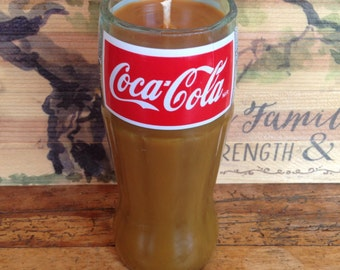 Coke bottle candle - soy candle - Coca Cola bottle - hand poured candle - handmade candle - coke product