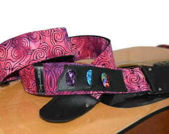 Strap Guitar and bass strap  - Adjustable and padded strap for guitar and bass