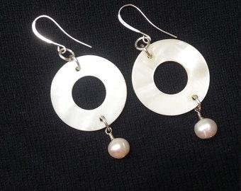Mother of Pearl Earrings