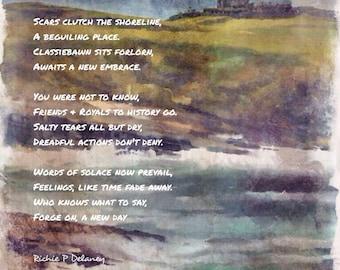 Classiebawn Castle, Mayo, Ireland, Landscape Art, Fine Art Print