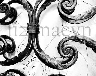 Decorative Metal Wall Art - Wall Art Decor - Metal Wall Art - Wrought Iron Art - Art on Canvas - Office Art - Urban Decor - Sumptuous Print