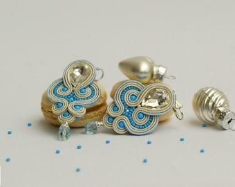 Snow and Ice - Handmade Soutache Earrings