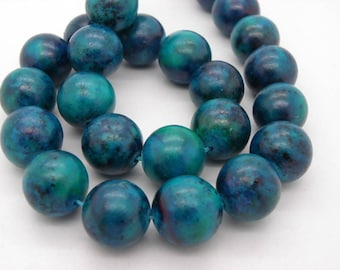 5 16 mm chrysocolla stones has round natural stone