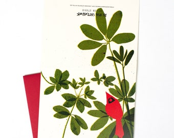Cardinal in Rhododendron Boxed Greeting Card Set