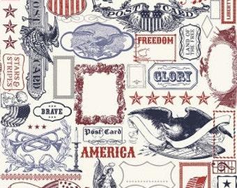 Riley Blake - Americana Main in Multi - your choice of cut