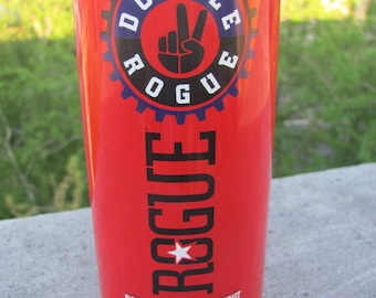 Upcycled Rogue Double Chocolate Stout Beer Bottle Glass