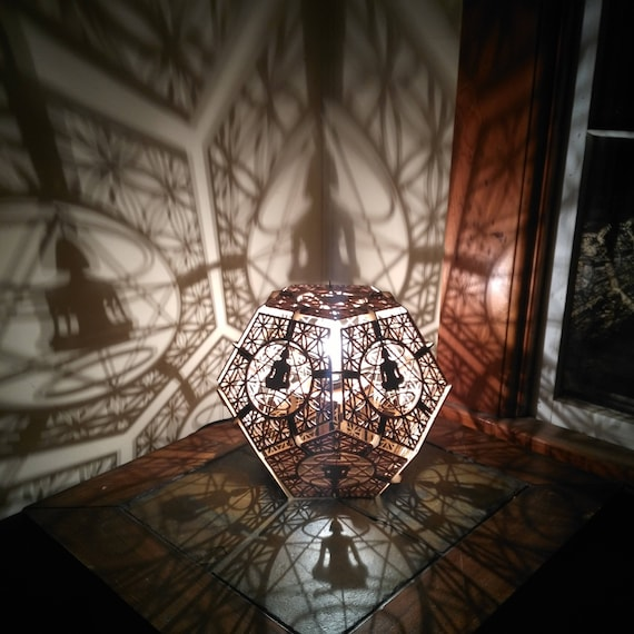 Merkaba Dodecahedron- Desk Shadow Lamp