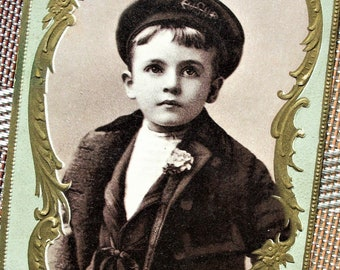 Trade Card - Boy Advertising Woolson Spice, 1895