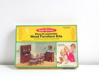 Miniature Dining Room, Dollhouse Dining Room, Dining Room Kit, Miniature Kit, Dollhouse Kit, Dollhouse Furniture Kit, Miniature Furniture