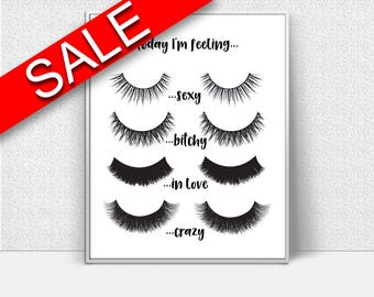 Wall Art Eye Lashes Digital Print Eye Lashes Poster Art Eye Lashes Wall Art Print Eye Lashes Beauty Art Eye Lashes Beauty Print Eye Lashes