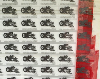 Beer Memorabilia, Vintage Graphic Design Wall Art, Huge Graphic Art Printer's Mask for Lucky Light Beer Graphic Design