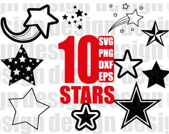 STARS SVG, star svg, night svg, christmas svg, star png, clipart, decal, stencil, vinyl, cut file, eps, dxf, png, silhouette, iron on