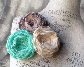 Flower Hair Clip and Brooch–Pick your color
