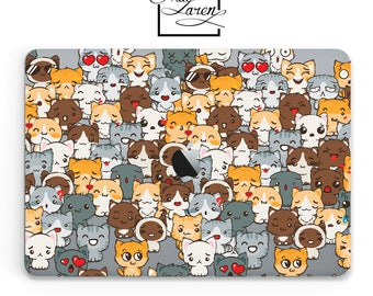 Cats Macbook Pro 13 Case Macbook 15 Case Macbook Pro Retina Macbook 13 2017 Macbook Pro 15 Case Kitties Cat Pattern Gift For Catlover 50