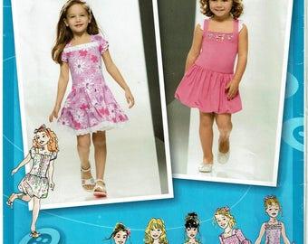 Simplicity Pattern 2943 Child's Knit Dress Size A (3-8) UNCUT