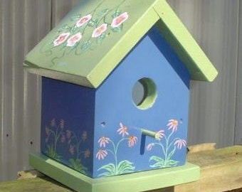Purple Coneflower Birdhouse