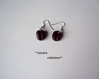 pair coffee bean earrings