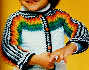 Baby Sweater Vintage Crochet Pattern Instant Download