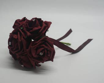 Wedding Posy - Perfect for Bridesmaids ( Burgundy )