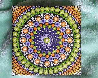 Dotillism art - Autumn Dream Mandala.