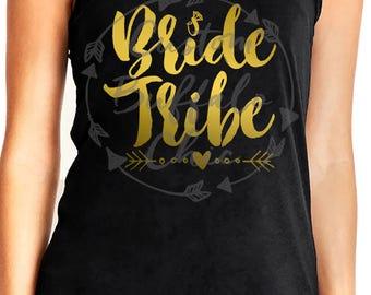 Bride Tribe Racerback Tank Top | Bride Tank Top | Bachelorette Party Shirts, Bride Tank, Bridesmaid Shirts, Bridal Party Tank Tops