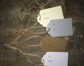 To and From Tags w/ Jute Twine 10-Pack