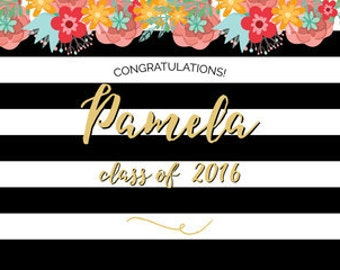 Party Backdrop, Photo Booth Backdrop, Any Occasion Backdrop, Graduation Party Photo Booth Backdrop, PRINTABLE Backdrop, PERSONALIZED