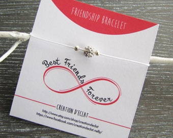 Pearl bracelet, shamballa, gift, birthday card, BFF, Best Friend - creating sparkle