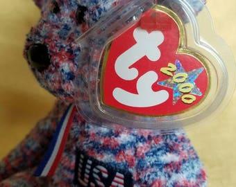 "TY Beanie Baby ""USA"" Bear"