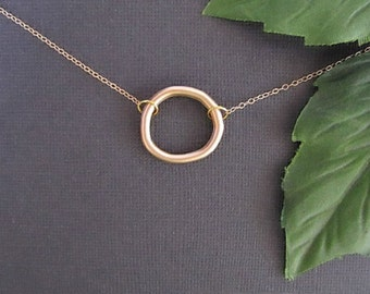Circle Necklace, Gold Necklace, Best Friend Necklace, Bff Necklace, Minimal Necklace, Everyday Necklace, Simple Necklace, Eternity Necklace