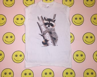 New Vintage RACCOON TANK clothing women's