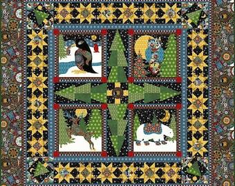 A Celestial Winter Quilt Pattern, In the Beginning Fabrics, Jason Yenter, Applique Quilt Pattern