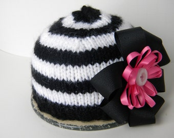 Newborn Girl Beanie Hat