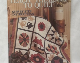 Quilting Instruction Book, Teach Yourself To Quilt Vintage Leaflet
