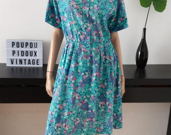 vintage floral dress size 36 - uk 8 - us 4