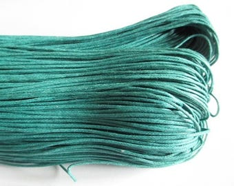 10 meters of thread waxed cotton emerald green 1 mm