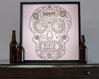Beer Art - Craft Beer Art - Beer Painting - Hopcity Beer Art
