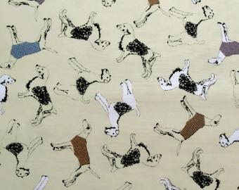 Jane Makower Inprint Beige Terrier Dogs Patchwork Quilting Sewing Dressmaking Fabric