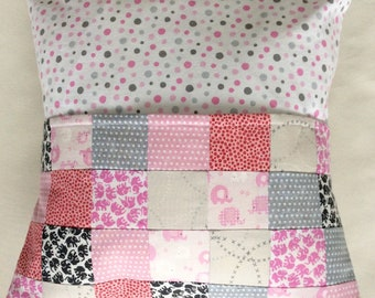 Children's Reading Pocket Pillow/Travel pillow/Pocket Pillow/Pink, Gray, and White