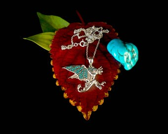 Dragon Pendant - In 925 sterling silver (with free leather necklace and silver clasp) Special introductory price this month