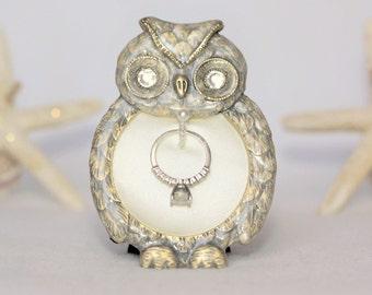 Owl wedding ring Etsy