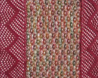 Knit Stole Pattern:  Cambridge 4-Season Stole/Scarf Knitting Pattern