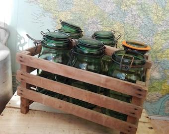Set of 5 preserving jars DURFOR 1 Litre, French Vintage