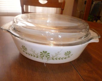 Large Vintage Casserole with Lid